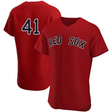 Authentic Chris Sale Men's Boston Red Sox Red Alternate Team Jersey