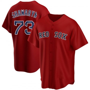 Replica Mike Shawaryn Youth Boston Red Sox Red Alternate Jersey